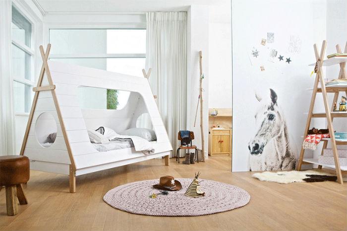 Cortinas para quarto de menino com cama barraca