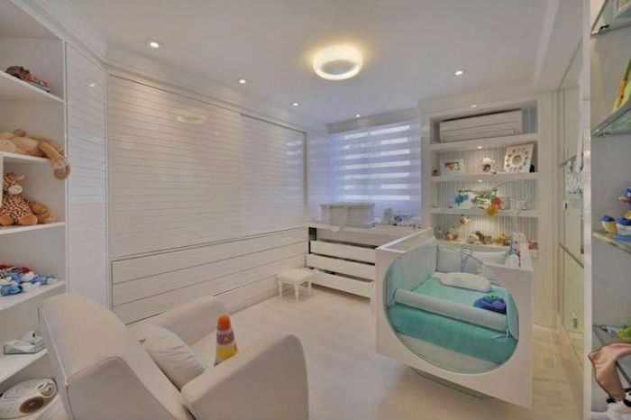 Cortinas para quarto de bebê - persianas delicadas
