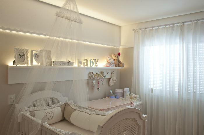 Cortinas para quarto de bebê - branco