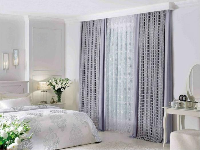 Cortinas para quarto de casal - tecido lavanda
