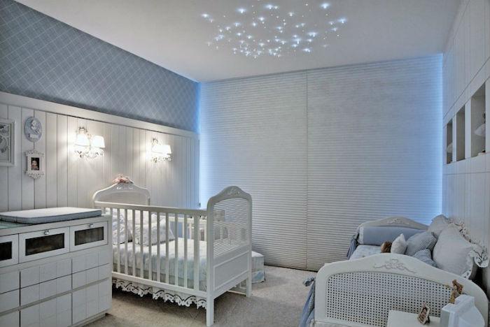 Cortinas para quarto de bebê - azul suave