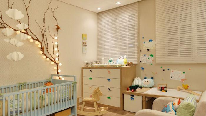 Cortinas para quarto de bebê - persiana branca