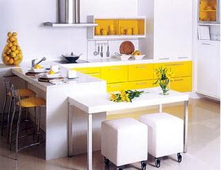 Móveis planejados: cozinha em espaço pequeno