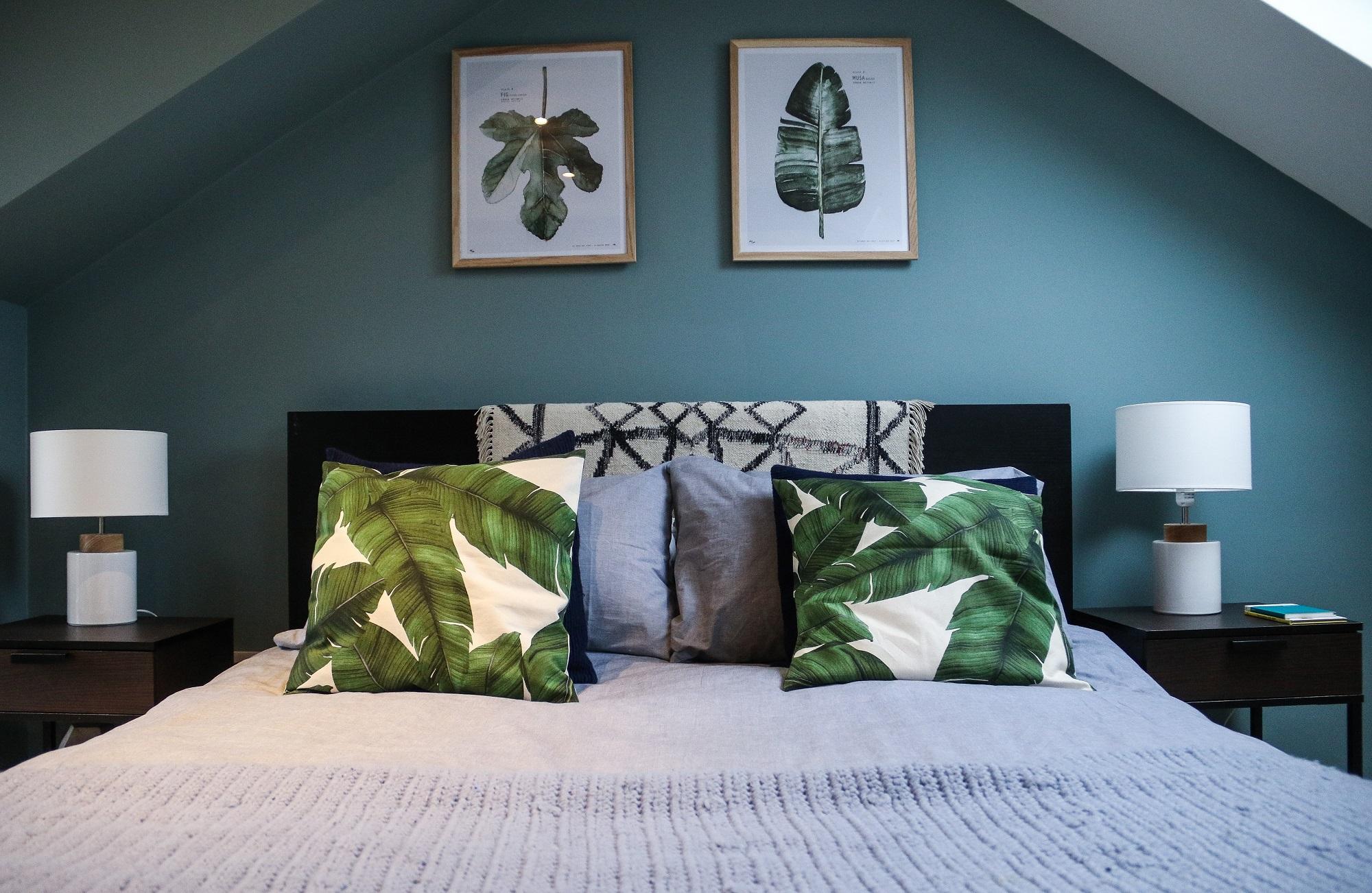 Decoração de quarto de casal: motivos florais