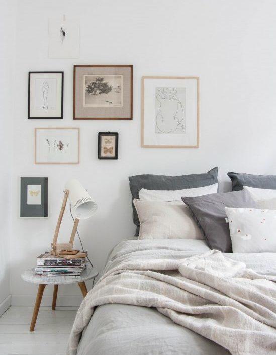 Decoração de quarto de casal: cama por arrumar