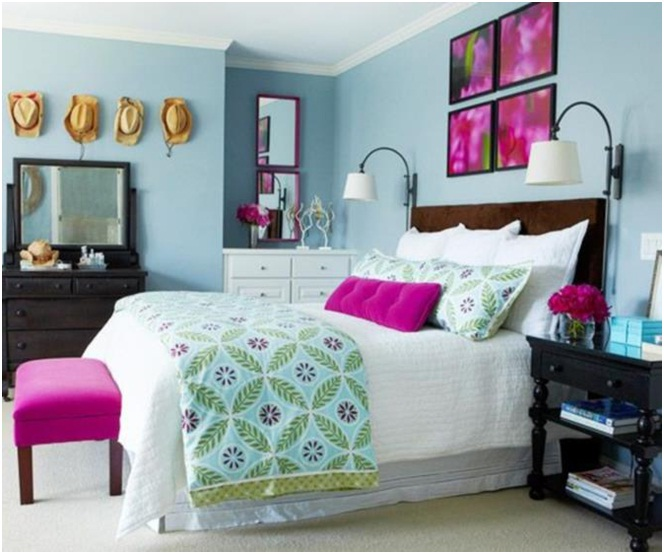 Decoração de quarto de casal: com toques de rosa