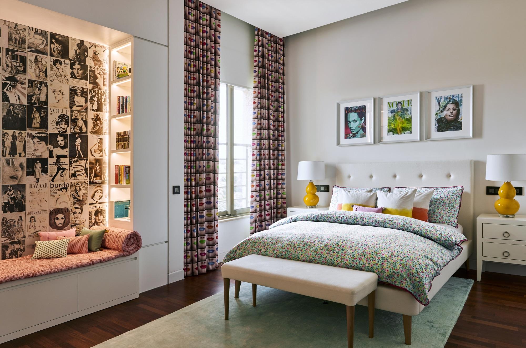 Decoração de quarto de casal: colorido com conforto