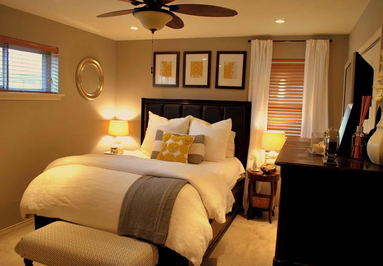 Decoração de quarto de casal: tons quentes