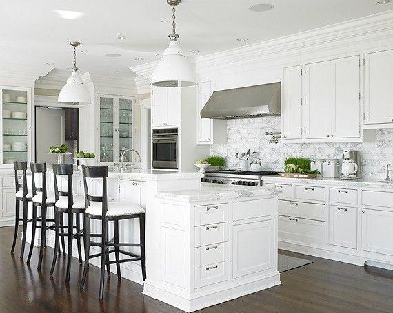 Cozinha americana: branco total