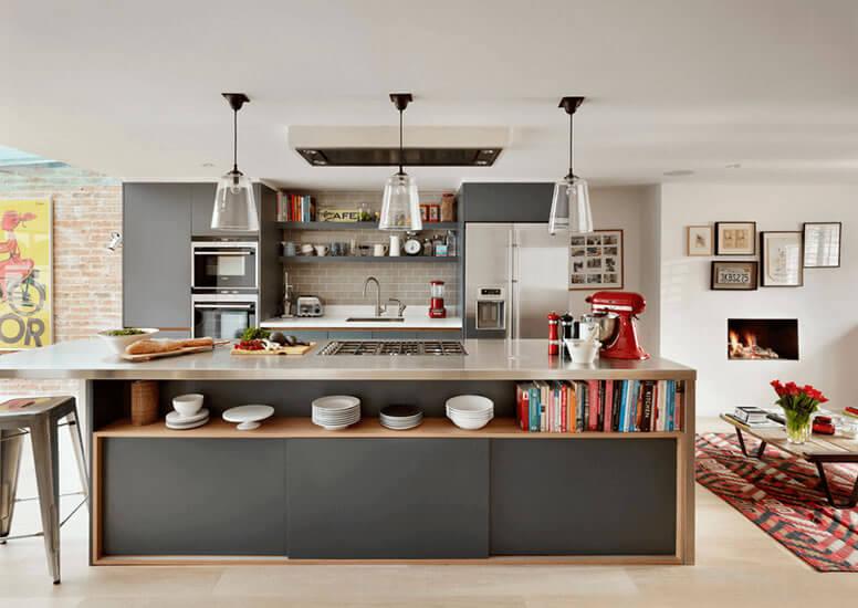 Cozinha americana: colorida