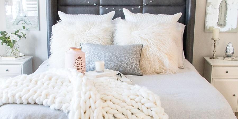 Decoração de quarto de casal: muito fofo cheio de textura