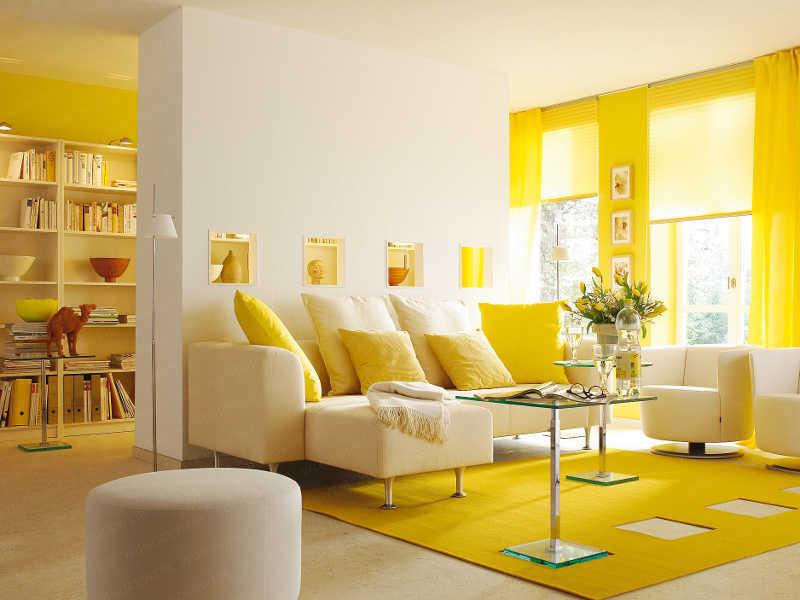 Cores de tintas para sala: escandalosamente amarela
