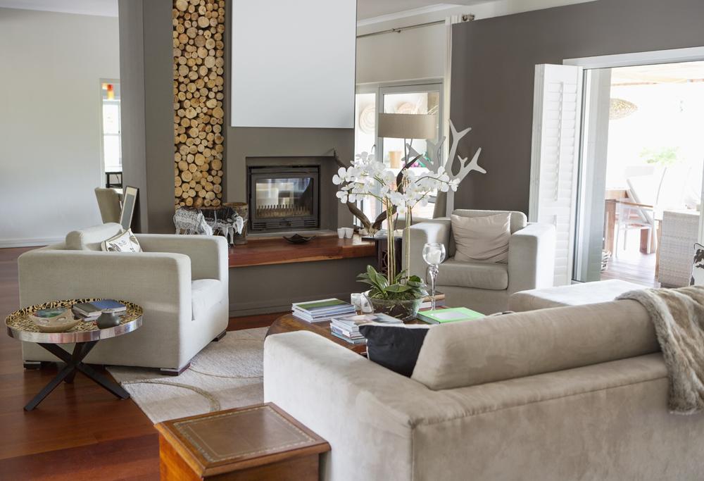 Salas decoradas: linda com lareira