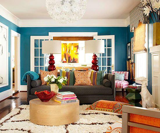 Cores de tintas para sala: ambiente colorido