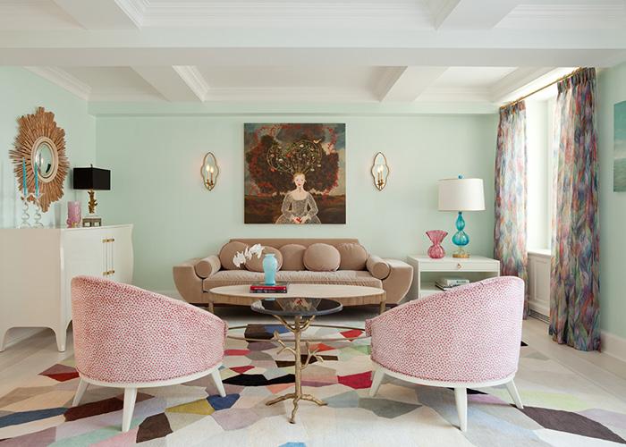 Cores de tintas para sala: tons de rosa