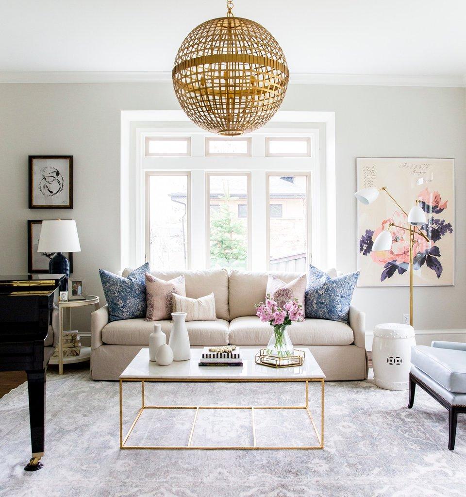 Salas decoradas: tons de rosa