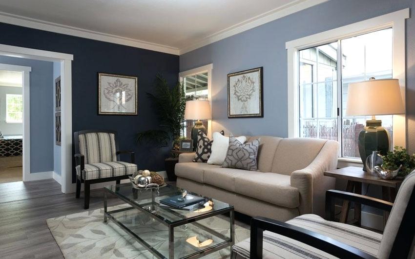Cores de tintas para sala: tons de azul