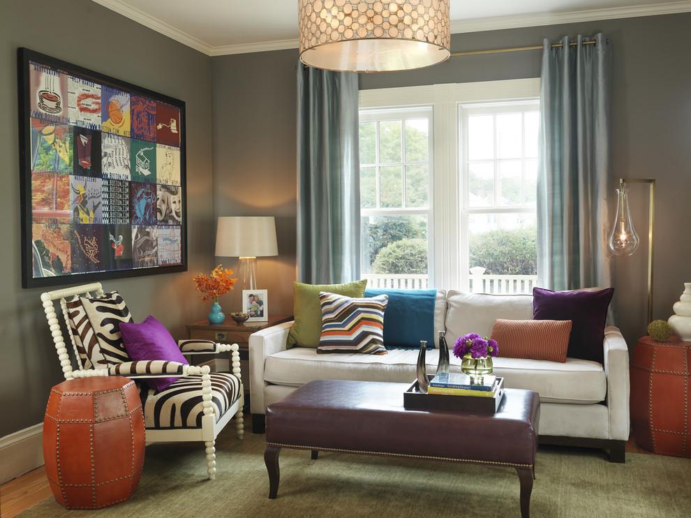 Salas decoradas: bem colorida
