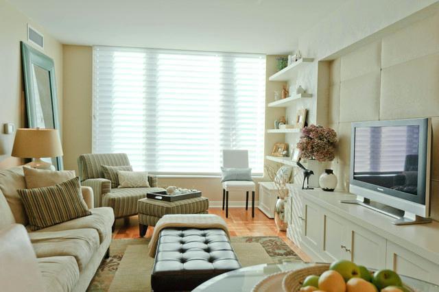 Salas decoradas: compacta