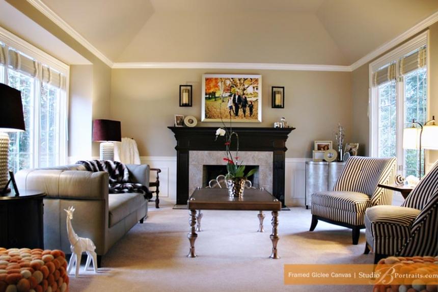 Salas decoradas: sofisticada
