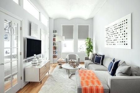 Salas decoradas: clarinha com TV