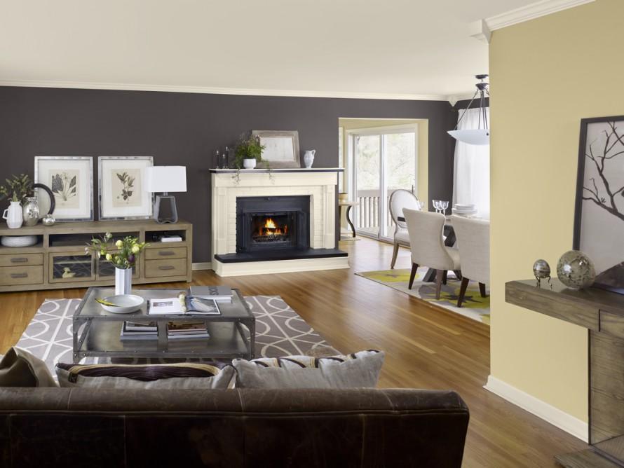 Cores de tintas para sala: tons de cinza