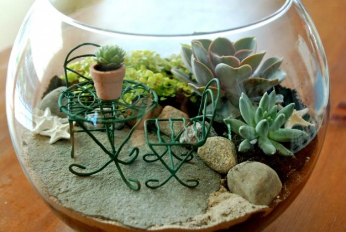 Terrário: aprenda fazer um minijardim com enfeites