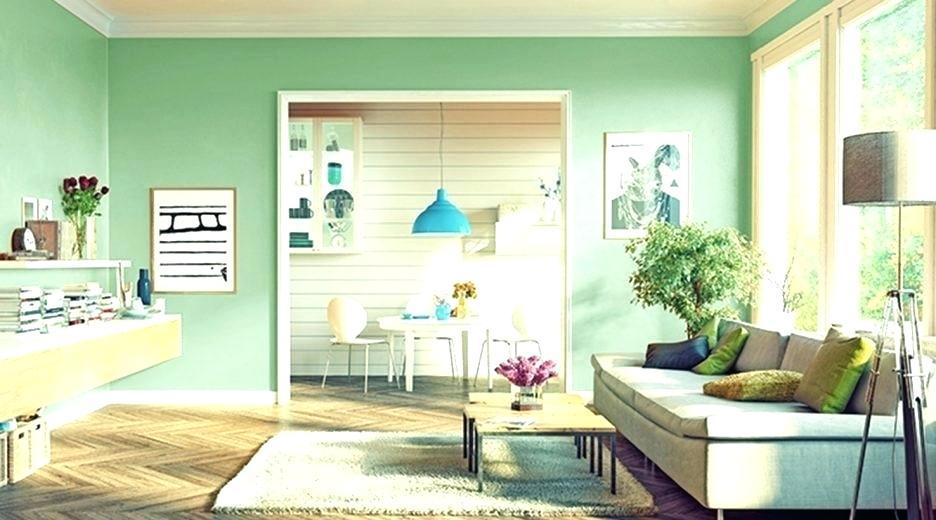 Cores de tintas para sala: verde claro e azul