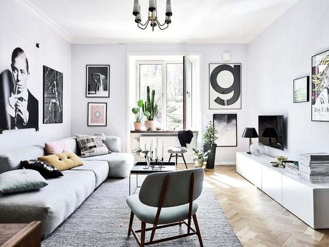 Salas decoradas: muitos quadros