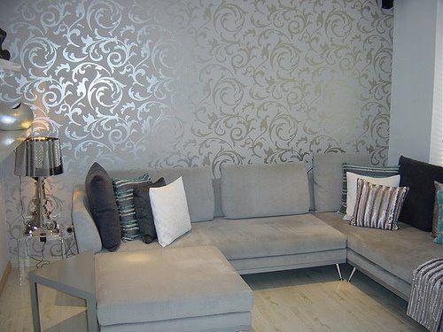 Papel de parede para sala de estar brilhante