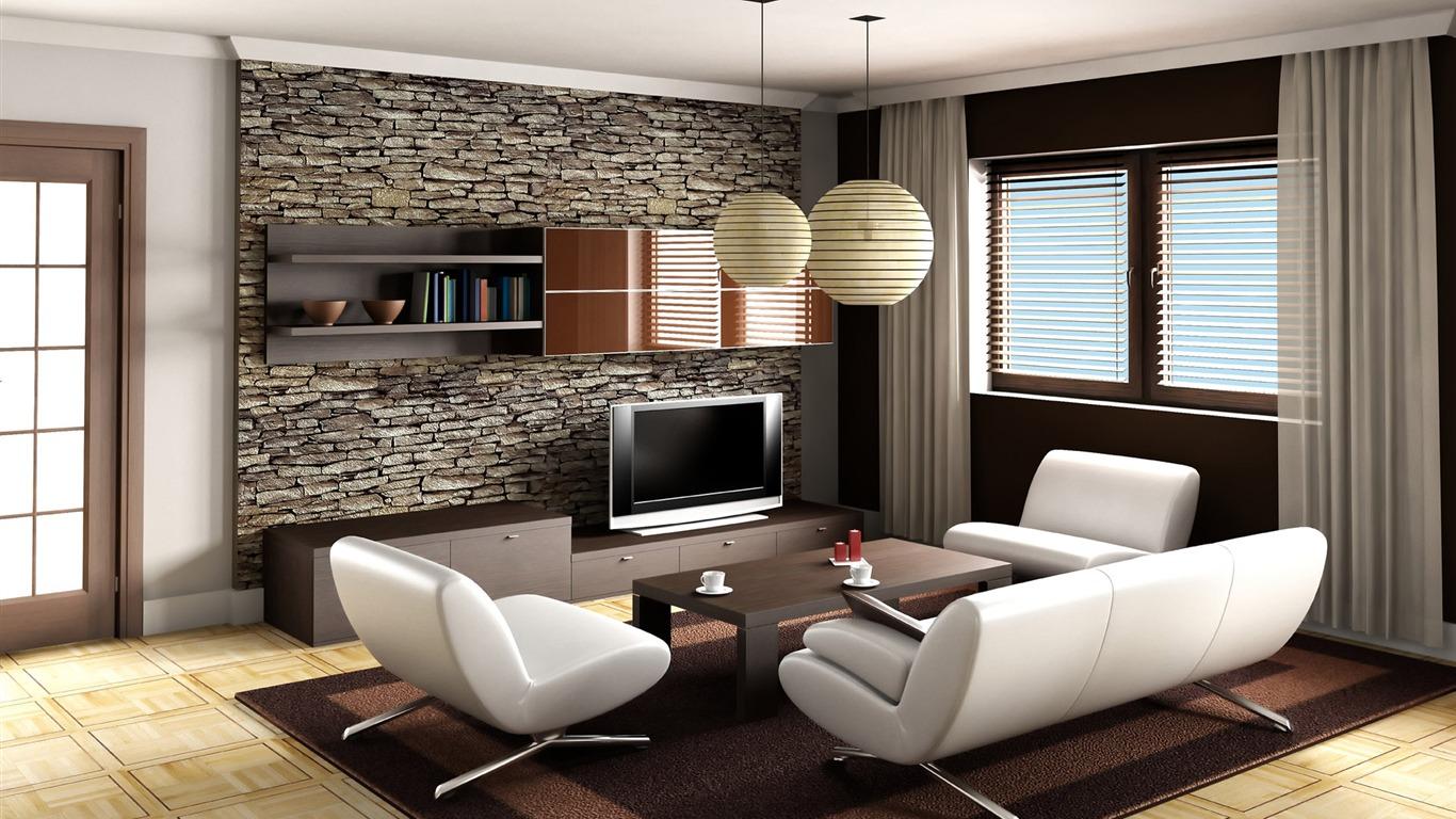 Papel de parede para sala de estar pedra