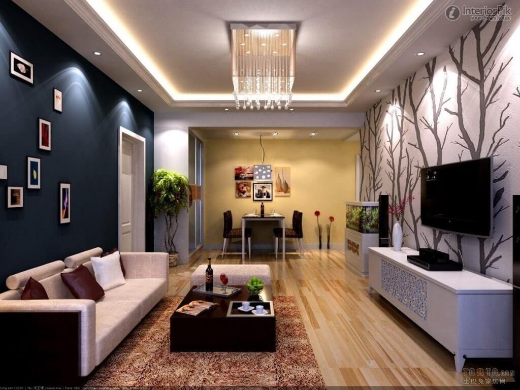 Papel de parede para sala de estar árvores