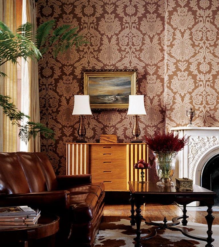 Papel de parede para sala de estar clássica