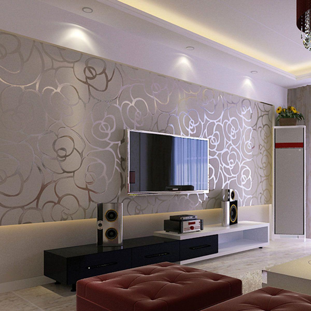 Papel de parede para sala de estar chique