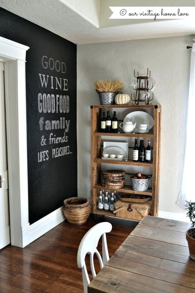 Chalckboard: na parede da sala de jantar