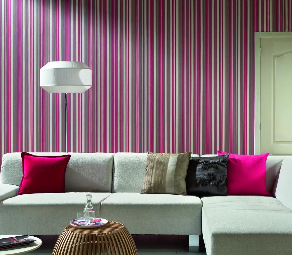 Papel de parede para sala de estar tons de rosa