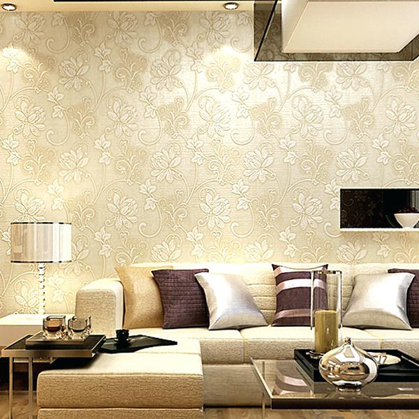Papel de parede para sala de estar flores delicadas