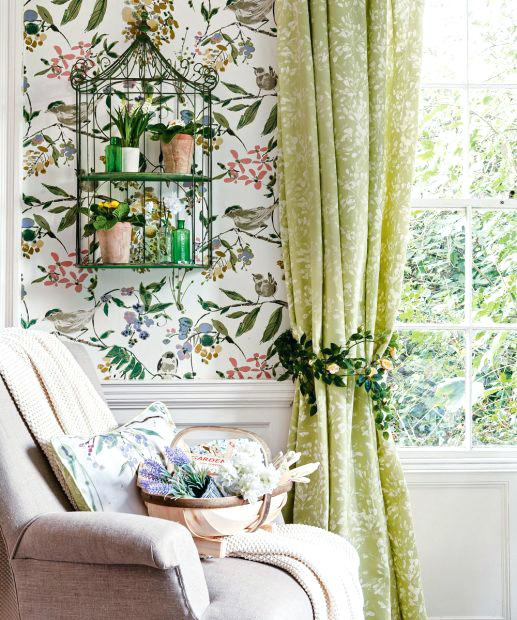 Papel de parede para sala de estar pássaros