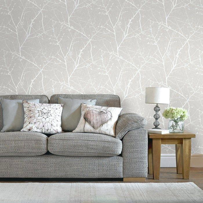Papel de parede para sala de estar sofá cinza