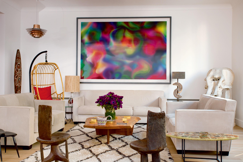 Decoração de sala: quadro grande colorido
