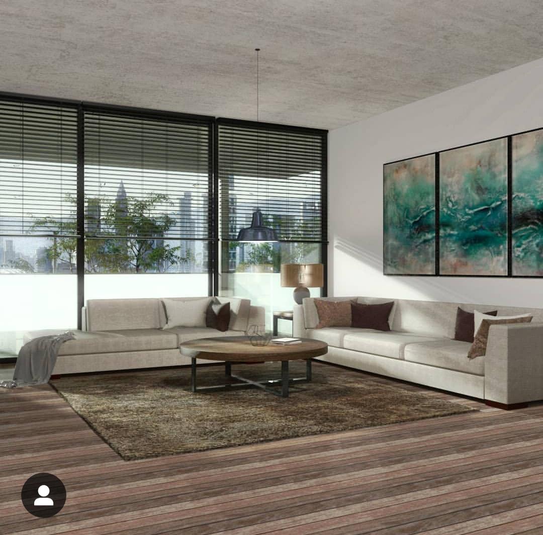 Cortina persiana: sala iluminada