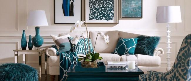Decoração de sala: azul