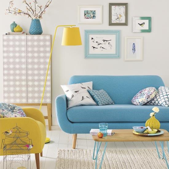 Decoração de sala: sala colorida