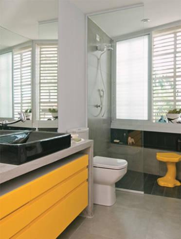 Piso para banheiro: laranja