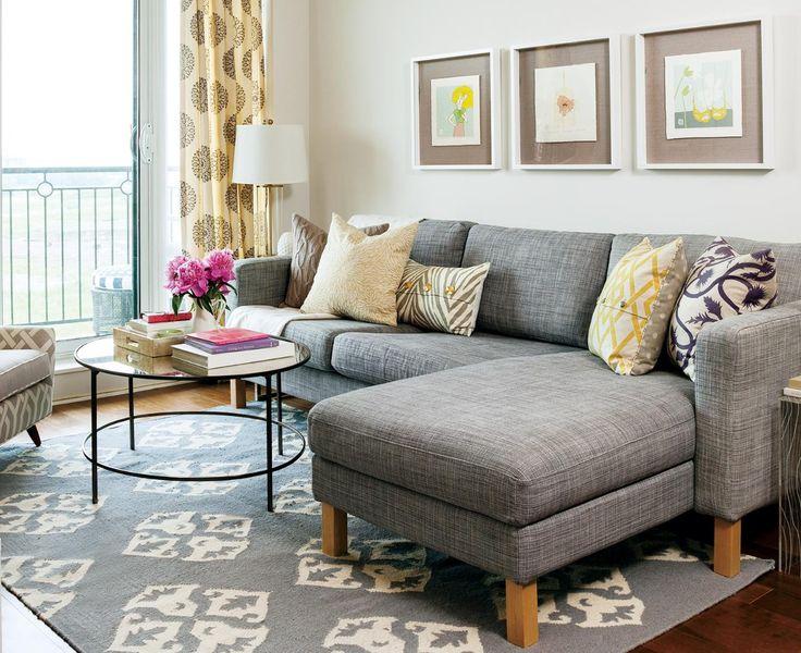 Decoração de sala: sofá cinza