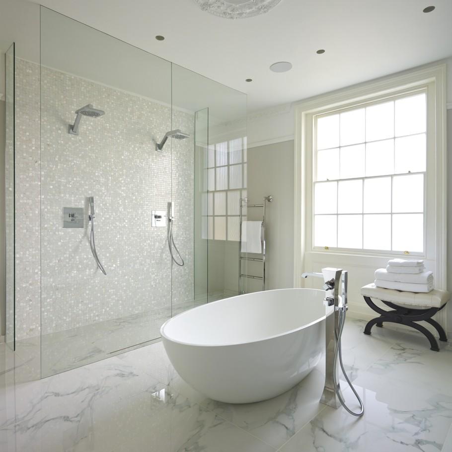 Piso para banheiro: clarinho - mármore