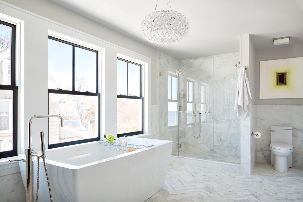 Piso para banheiro: muito lindo - mármore