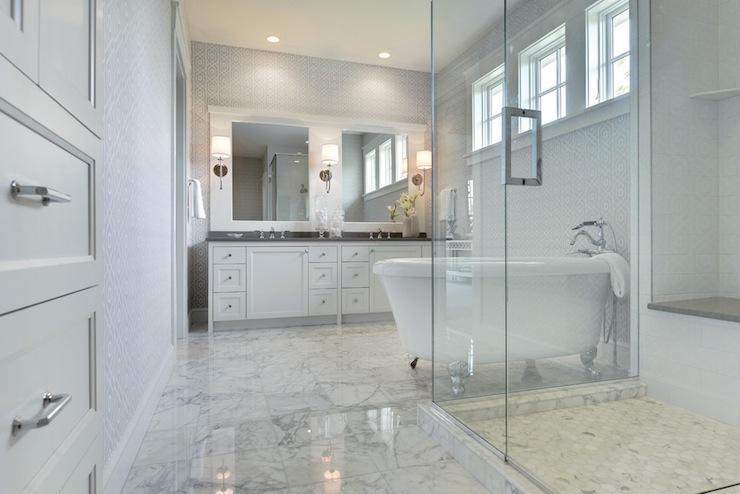 Piso para banheiro: grande - mármore