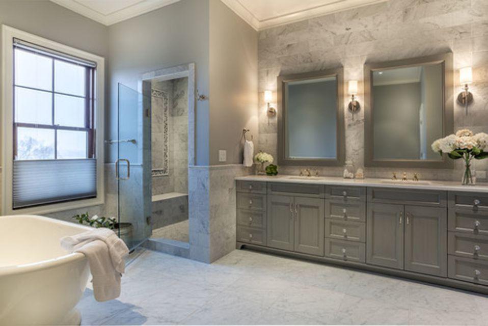 Piso para banheiro: luxuoso - mármore