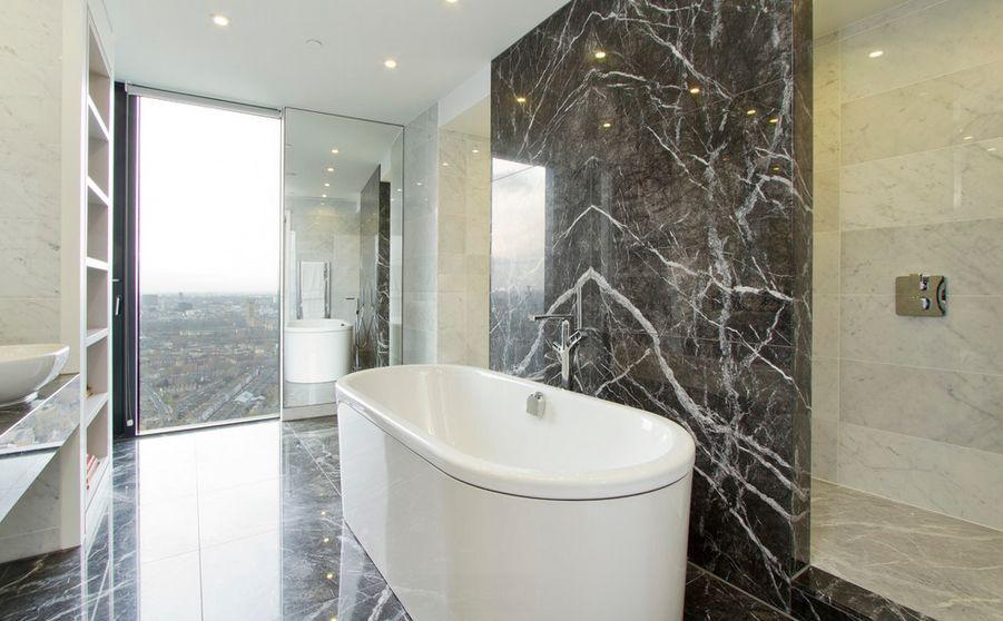 Piso para banheiro: chique - mármore